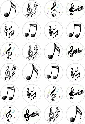 £2.65 • Buy 24 Music Notes Cupcake Fairy Cake Toppers Edible Rice Wafer Paper Decorations