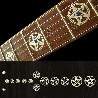 New Kevin Bond Pentagram White Pearl Fret Markers Inlay Stickers Decal Guitar JP • 9.73£