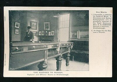 £15 • Buy Yorkshire Yorks MIDDLESBOROUGH Sport SNOOKER Billiards Missions To Seaman PPC