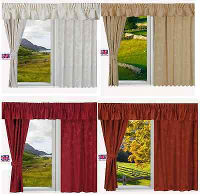 £19.95 • Buy Static Fully Lined Ready Made Caravan Curtains Premium Quality Made To Measure