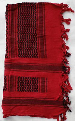 Shemagh Arab Scarf Combat Outdoor Camping Sport Neck Warmer Keffiyeh Scarves Red • 8.99£