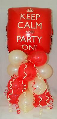 Keep Calm 18th 21st Or Party On Balloon Centre Piece Free 1st Class Postage • 4.85£