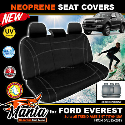 AU149 • Buy Manta Custom FORD Everest Middle Row Neoprene Seat Covers Trend Titanium 2015-19