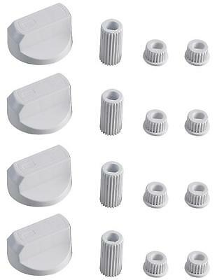 £4.75 • Buy 4 X UNIVERSAL INDESIT Cooker Oven Hob CONTROL KNOBS WHITE