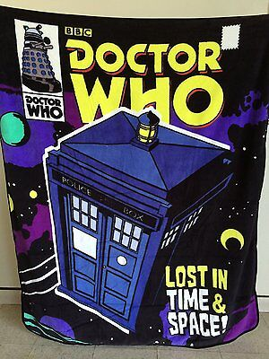 £11.36 • Buy  Dr Who  Lost In Time & Space!  RASCHEL THROW BLANKET (Brand New No Tag)
