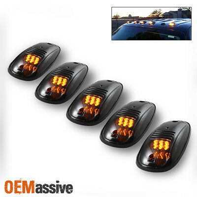 $29.96 • Buy Truck/SUV 5Pcs Smoked Lens Roof Top Full Amber LED Running Parking Cab Lights