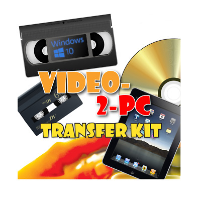 USB Video Capture For Windows 10, 8.1 & 7. Copy VHS & Hi8 Camcorder Tapes PC/DVD • 39.95£