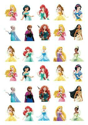 £2.65 • Buy 30 Disney Princess Stand Up Cupcake Cake Toppers Edible Rice Wafer Paper