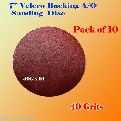 AU12.70 • Buy 10x 7  40 Grit Sanding Disc Paper Hook And Loop Backing Sander Abrasive Air