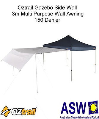 AU55 • Buy Oztrail 3.0 MULTI PURPOSE SIDE WALL AWNING Deluxe Gazebo WHITE Monsoon Rainfly
