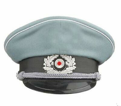 WW2 German WH M36 Officer Wool Crusher Cap With Chin Cord M – GM026 • 26.49£