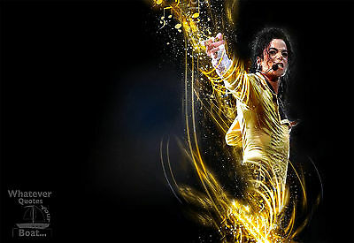 Michael Jackson Poster Print Quote Famous Picture Wall Art Canvas Gift All Sizes • 4.95£