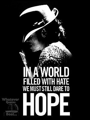 Michael Jackson Poster Print Quote Famous Picture Wall Art Gift All Sizes + • 4.95£