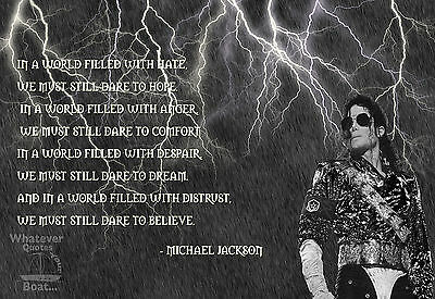 Michael Jackson Poster Print Quote Famous Picture Wall Art Gift - All Sizes • 4.95£