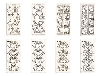 £1.99 • Buy Christmas MD Peel-Offs-Silver/Gold Stickers For Card-Making 2749/50/51/52 BOGOF