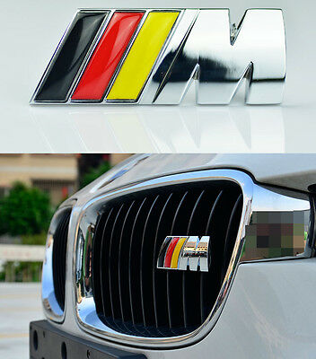 AU15.99 • Buy M Power Car Front Grille Badge Logo Emblem For BMW M3 M5 M6 E X 1 3 5 6 Germany