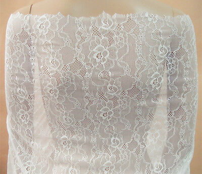 £7.79 • Buy Dancing Dress Stretch Tulle Trim Chantilly Floral Costume DIY Lace Fabric 0.5 Y