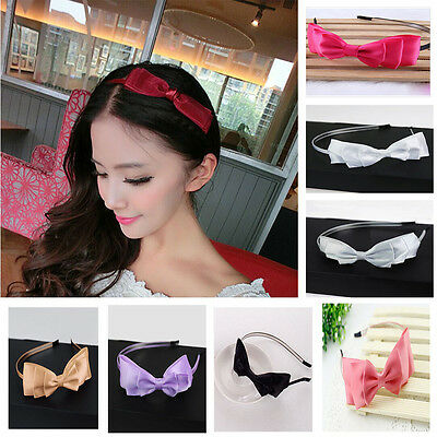 $1 • Buy  Big Bowknot Ribbon Headband Bow Head  Hair Band Accessories For Girls Ladies