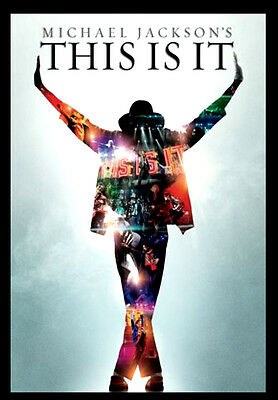 -A3 Size Wall Poster Art Deco - Michael Jackson Legend THIS IS IT Print -#02 • 4.49£