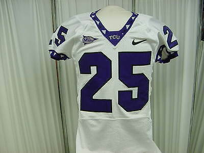 2008 TCU Horned Frogs  25 Sir Demarco Bledsoe Game Worn NCAA Football Jersey  S  bb746bf53