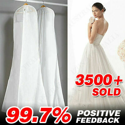 AU12.95 • Buy White Extra Large Wedding Dress Bridal Gown Garment Breathable Cover Storage Bag