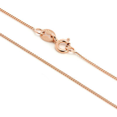 Rose Gold Plated Sterling Silver Fine Diamond Cut Chain 14 - 32 Inches • 5.25£