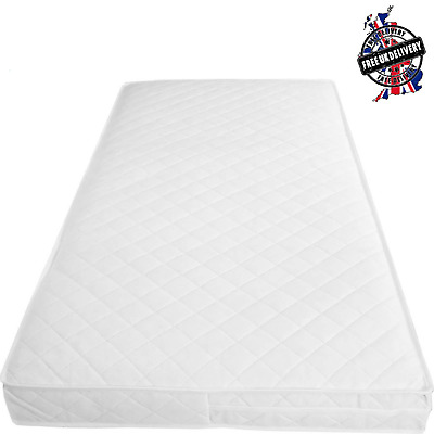 £22.89 • Buy Baby Toddler Cot Bed Breathable QUILTED AND WATERPROOF Foam Mattress All Sizes