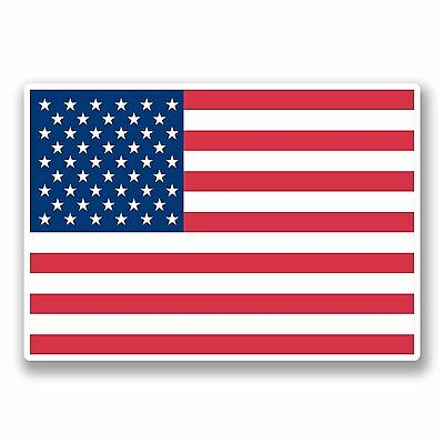 2 X 10cm United States Of America USA Flag Vinyl Stickers Decal American #9685 • 1.99£