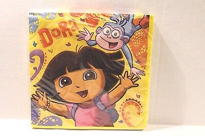 Dora The Explorer Birthday Party Napkins 13  X 13  Package Of 16 • 5.59£