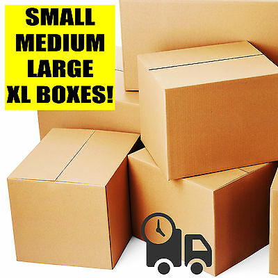 Single / Double Wall Cardboard Boxes - Postal Packing Removals Mailing Cartons • 15.89£