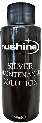 £11.99 • Buy Nushine Silver Cleaning Maintenance Solution 50mls - Renovate Your Silver Plate