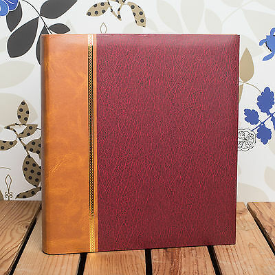 £23.99 • Buy CLASSIC TRADITIONAL ROYAL RED PHOTO ALBUM - FITS ANY SIZE PHOTO UPTO 12x10 INCH