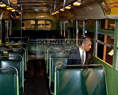 $7.98 • Buy President Barack Obama Sits On Seat In  Rosa Parks Bus  - 8x10 Photo (dd-046)