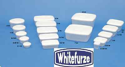 £4.99 • Buy New Whitefurze  Plastic Food Tub Storer Storage Container Cake Lunch Box Types