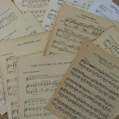 £8 • Buy Vintage LOVE SONG Sheet Music Paper Maybe For Art Craft Decoupage Cards