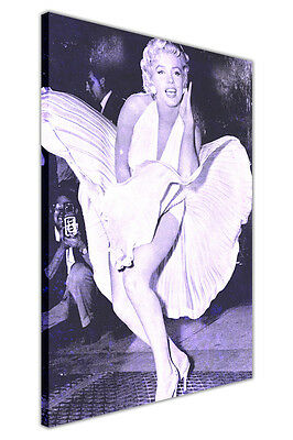 Iconic Marilyn Monroe Subway Photo Canvas Wall Art Pictures Home Deco Prints  • 9.99£