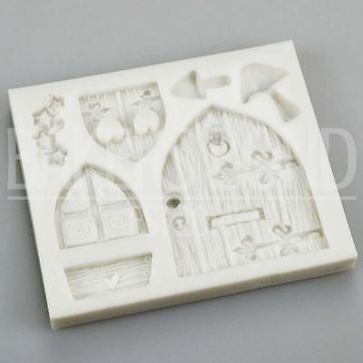 Baroque Vintage Fairytale Castle Door & Window Silicone Mould Wooden Mushroom • 6.20£