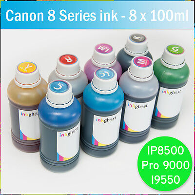 £37.12 • Buy 8 X 100ml Refill Ink CANON Compatible IP8500 Pro 9000 I9550 CISS - 8 Series Inks