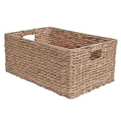 Wicker Storage Basket, Shelf Drawer, Water Hyacinth - Bedroom Kitchen Office  • 19.99£