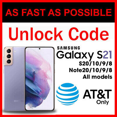 $ CDN12.52 • Buy Unlock Code Samsung Galaxy S21 S20 Plus Ultra FE S10 S9 S8 Note 20 10 9 8 AT&T