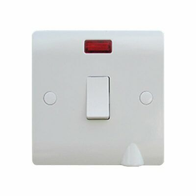 £4.73 • Buy Sline 1 Gang 20a Circuit  Double Pole Switch With Neon And Flex Outlet