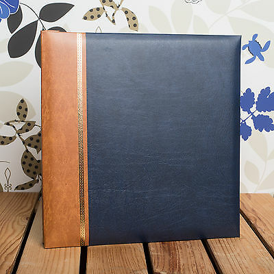 £23.99 • Buy SELF ADHESIVE PHOTO ALBUM *Holds 12x10 Inch Photos* Traditional Dark Blue Cover