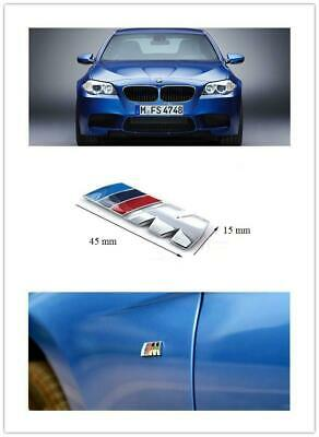 AU25.99 • Buy 2 X M-Sport Chrome BMW Car Badge 3D Self-adhesive Premium Logo Emblem Small 45mm