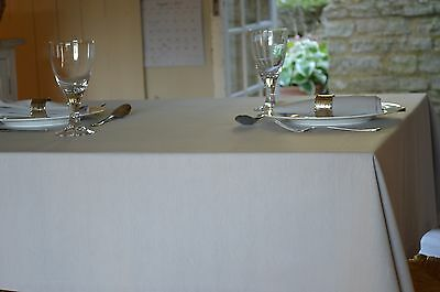 TABLECLOTH, 100% Cotton Plain Dyed Dove Grey. Square, Oblong, Round, Oval, Large • 19.99£