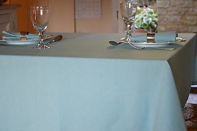 TABLECLOTH, 100% Cotton Plain Dyed Azure Blue. Square, Oblong, Oval, Round,large • 19.99£