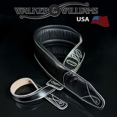 $ CDN51.84 • Buy Walker & Williams C-22 Extra Wide Double Padded Black Leather Guitar Strap