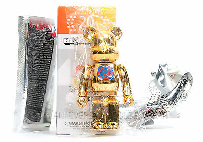 $235 • Buy Medicom Toy Bearbrick 100% SERIES 20 SECRET 20TH ANNIVERSARY GOLDEN BEAR