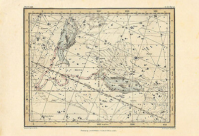 """27/"""" X 42/"""" GIANT STAR MAP GLOBAL MAPPING STAR CHART EPOCH 2000 UNIVERSE"""