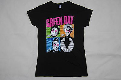 £9.99 • Buy Green Day Cross Eyes Uno Dos Tre Ladies Skinny T Shirt New Official Dookie Punk