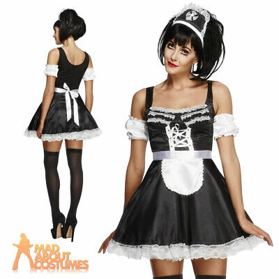 £18.49 • Buy Adult Flirty French Maid Costume Ladies Fancy Dress Outfit New